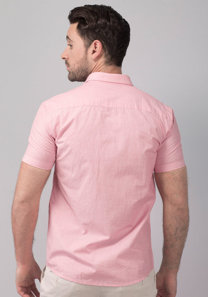 Pale Pink Short Sleeve Shirt Online