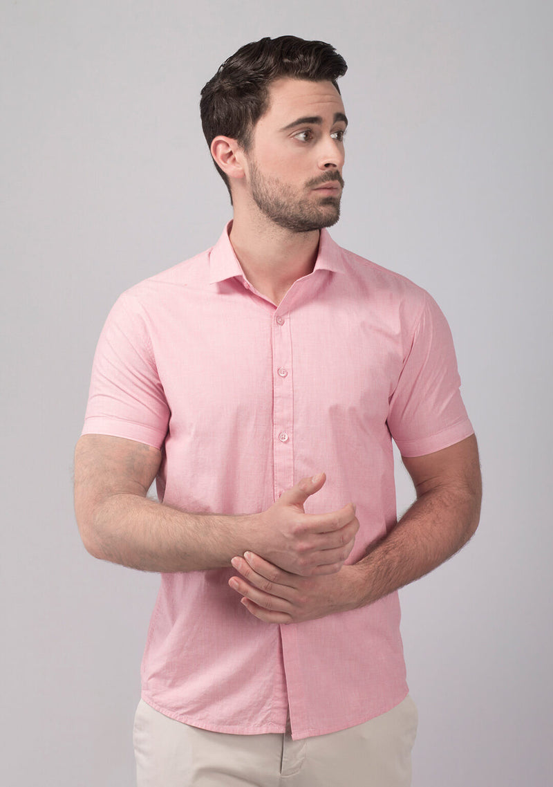 Shop Pale Pink Short Sleeve Shirt Online