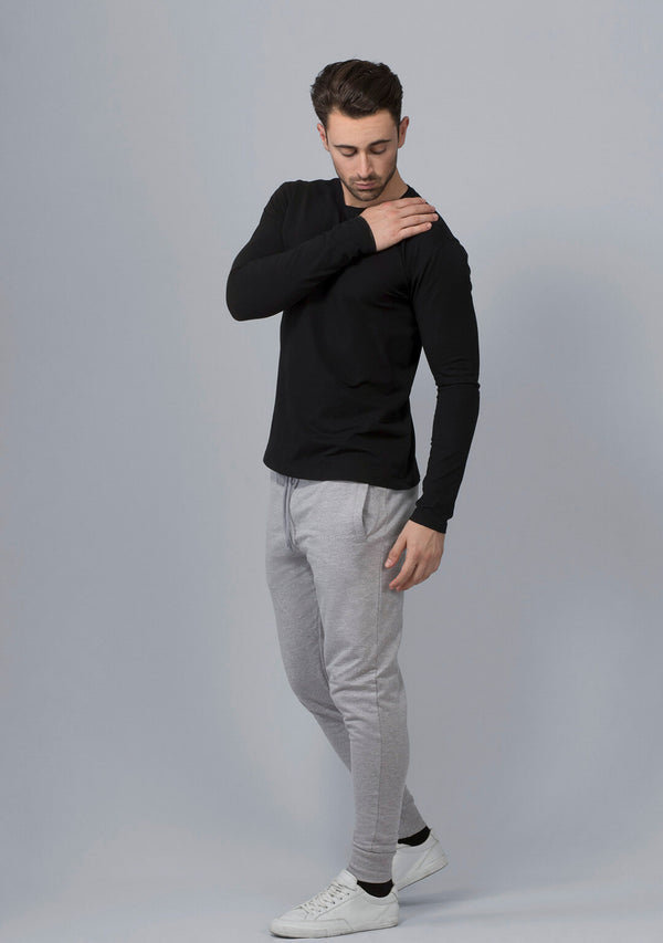 Light Grey Mélange Joggers for Men