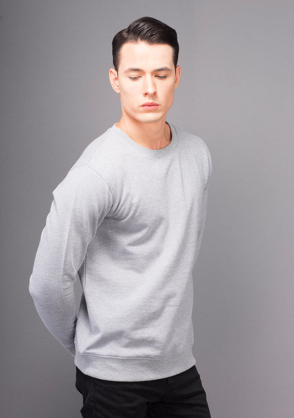 Light Grey Mélange Sweatshirt