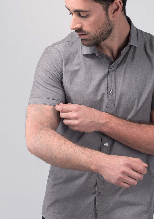 Stone Grey Short Sleeve Shirt Online