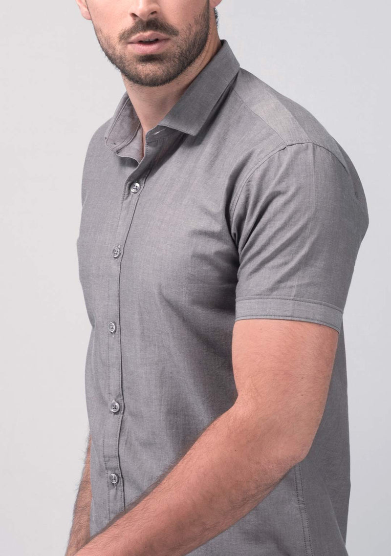 Stone Grey Short Sleeve Shirt