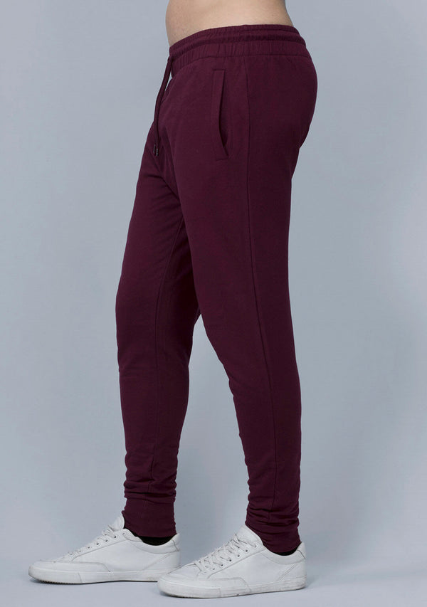 Vampire Wine Color Joggers for Men