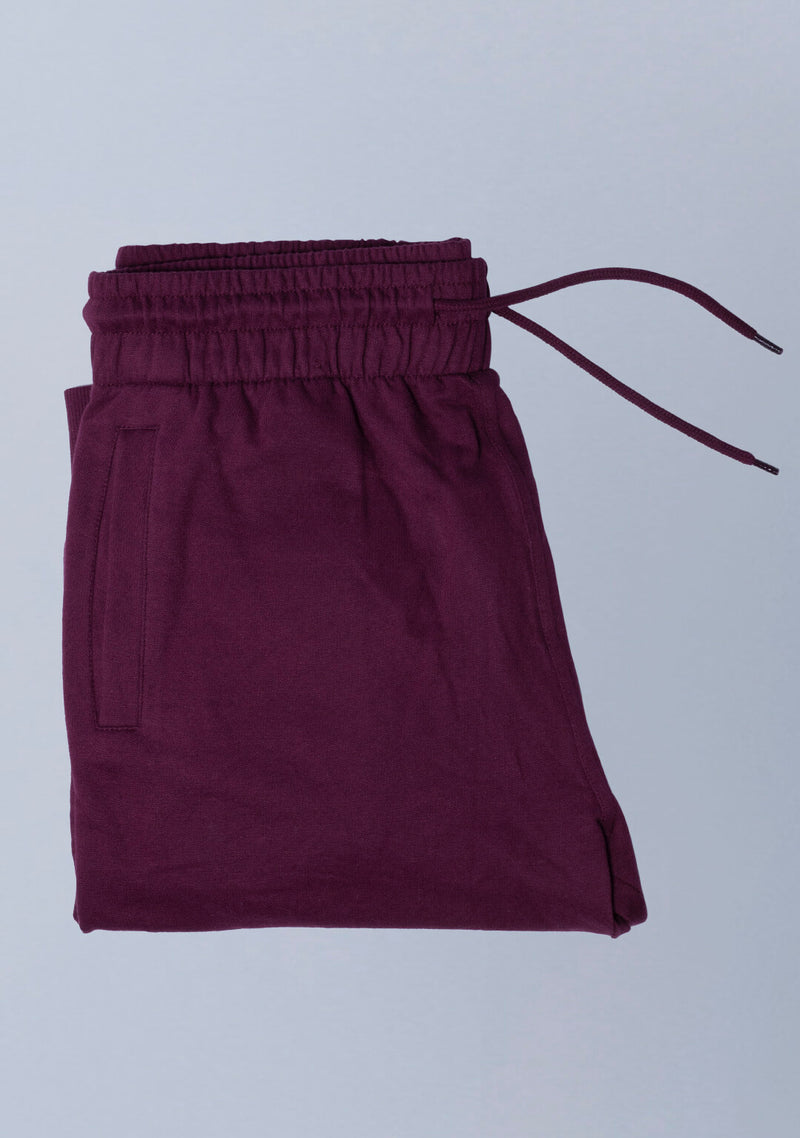 Joggers in Vampire Wine Color for Men