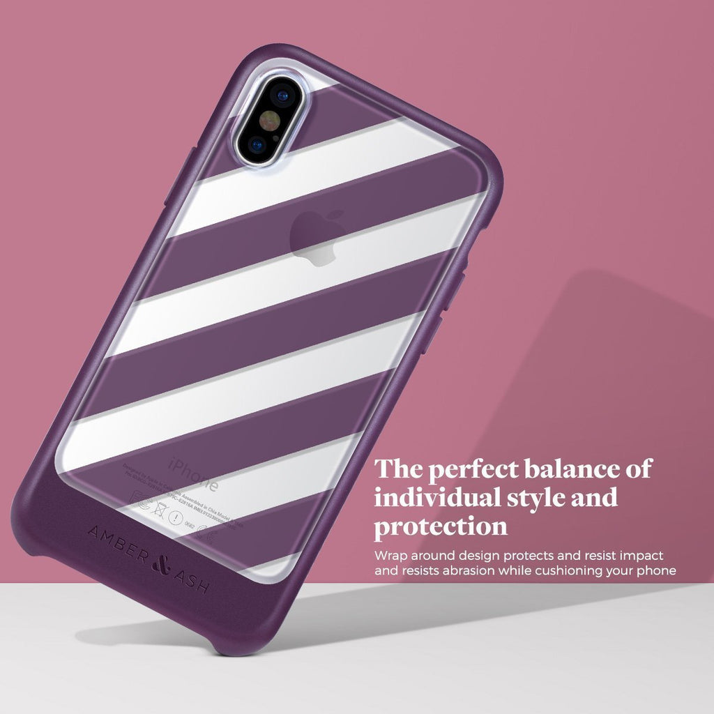 The Ultra Slim Fit Clear Stripe iPhone X Case Protects Your Investment
