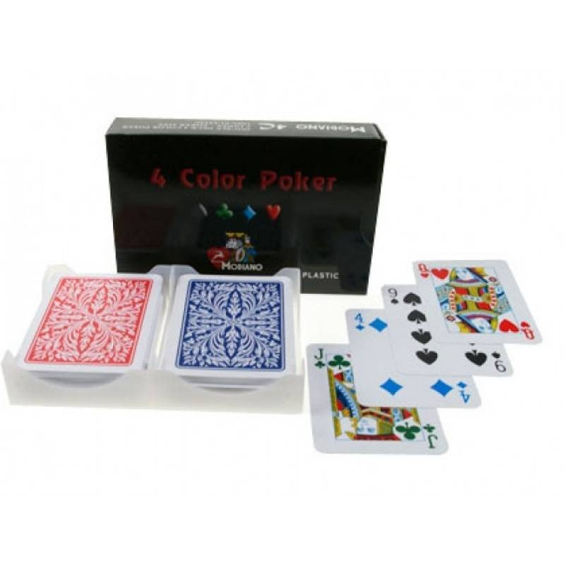 Modiano Club 4 Colour 2 Deck Poker Card Set