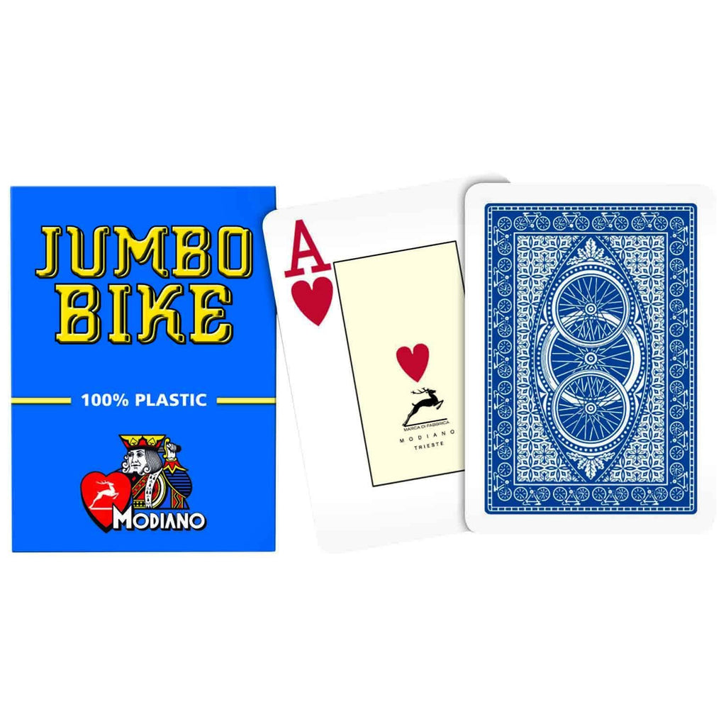 Modiano Jumbo Bike Blue Poker Cards