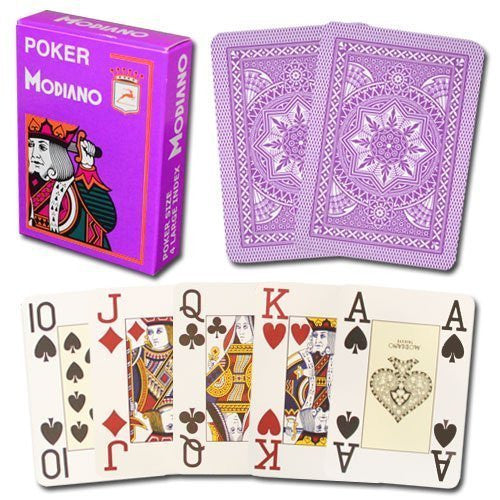 Modiano Poker Index Purple Cards