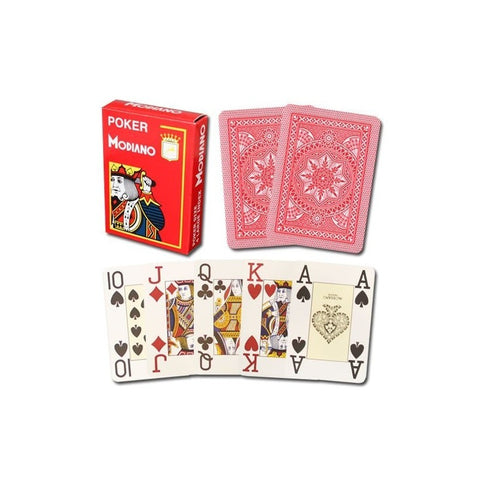 Modiano Jumbo Index Red Poker Cards