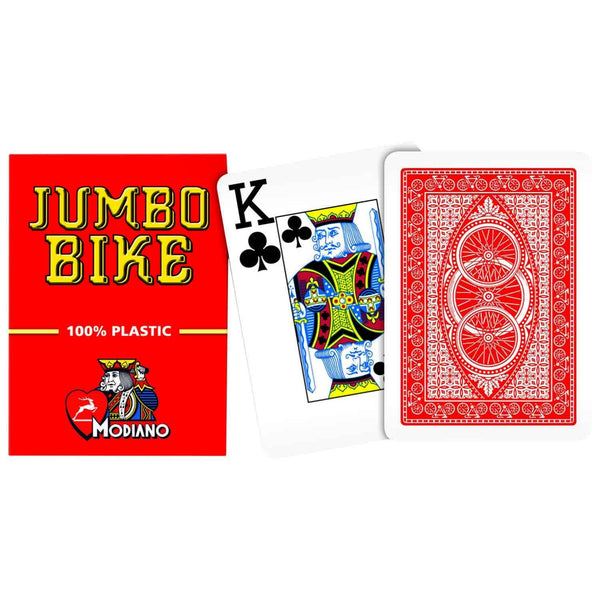 Modiano Jumbo Bike Red Poker Cards