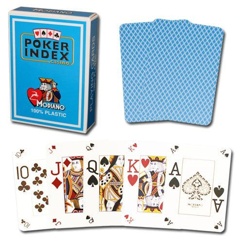 Modiano Poker Index Light Blue Cards