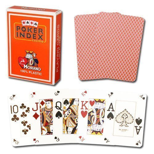 Modiano Poker Index Orange Cards