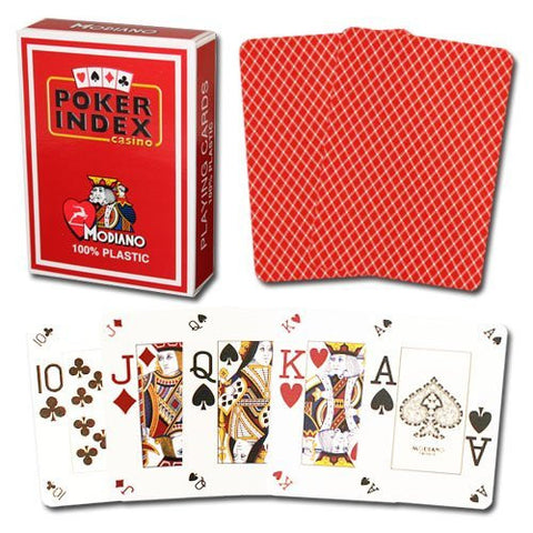 Modiano Poker Index Red Cards