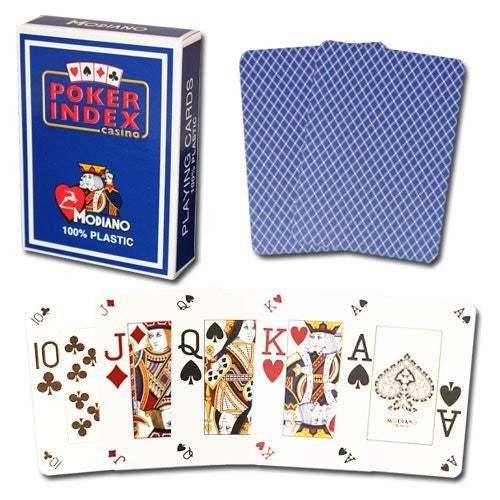 Modiano Poker Index Blue Cards
