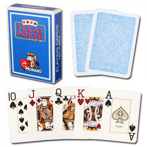 Modiano Texas Poker Blue Cards