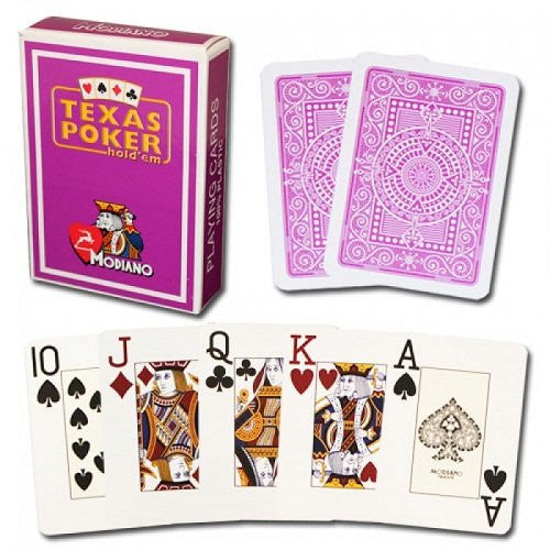 Modiano Texas Poker Purple Cards