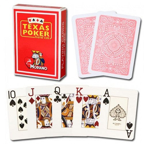 Modiano Texas Poker Red Cards