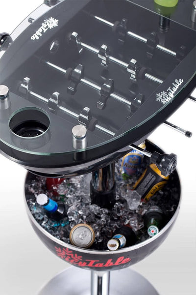 2 in 1 Party Foosball Table - Black