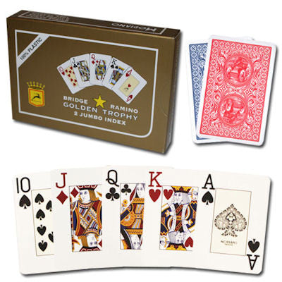 Modiano Golden Trophy Twin Set Poker Cards