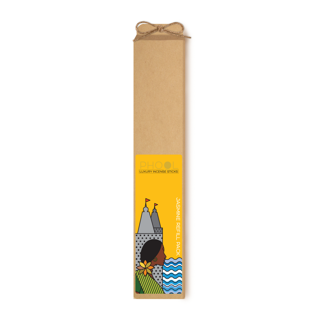 Phool Organic Incense Sticks- Refill Pack- Jasmine (80 pieces)