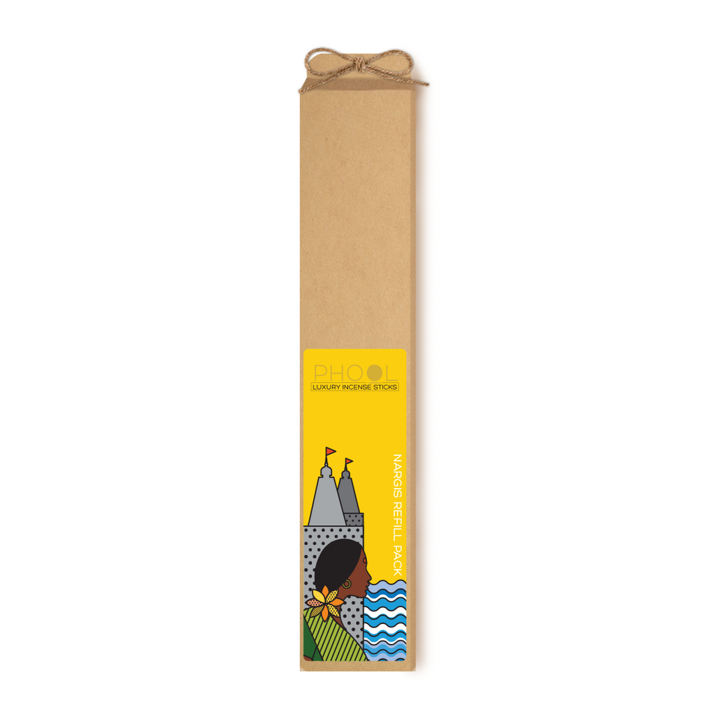 Phool Organic Incense Sticks- Refill Pack- Nargis (80 pieces)
