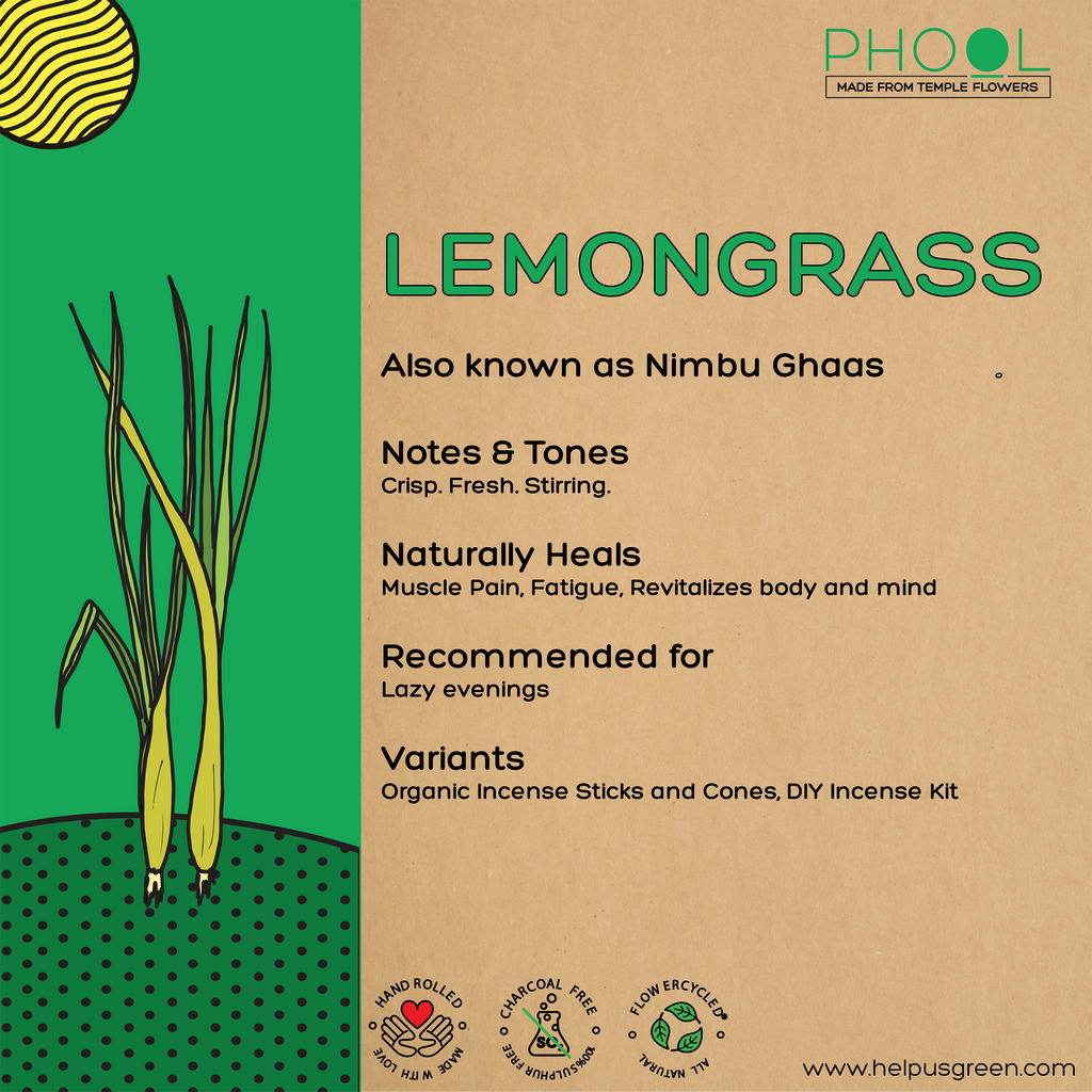 Phool Lemongrass Incense Sticks