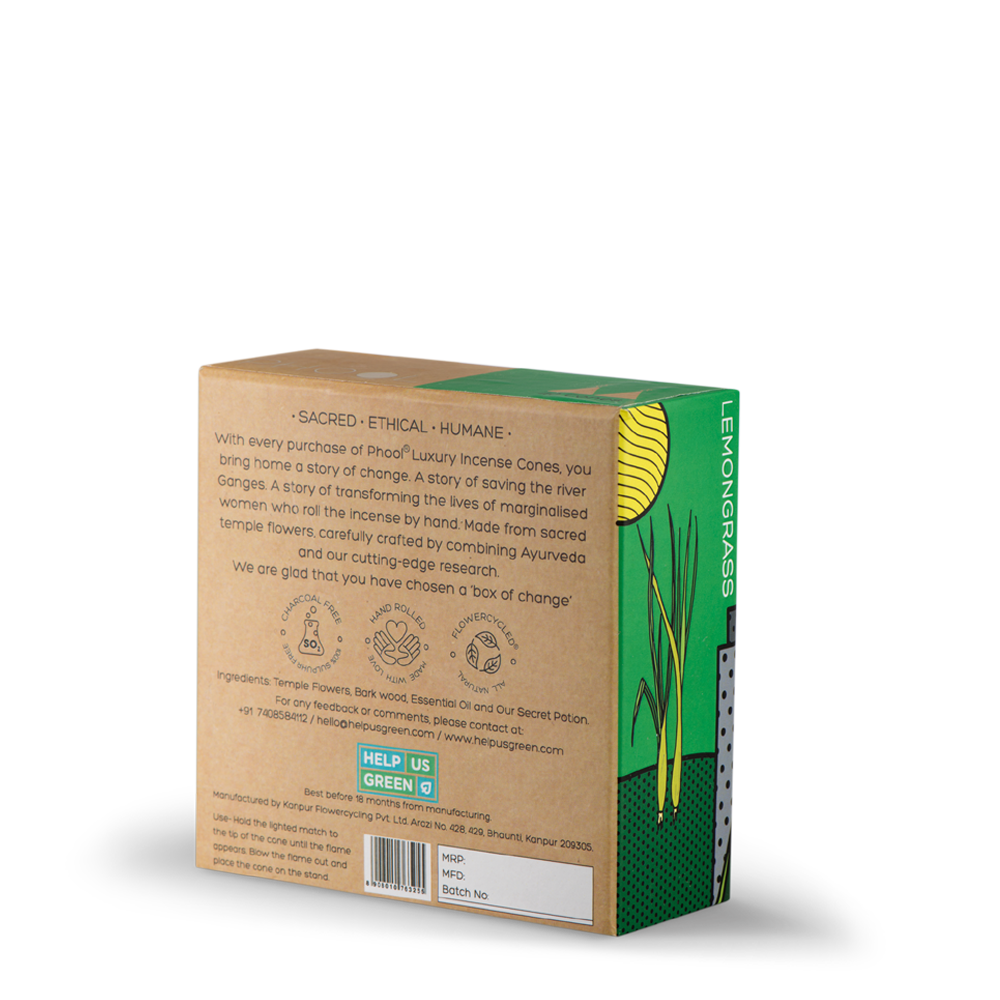 Phool Lemongrass Incense Cones