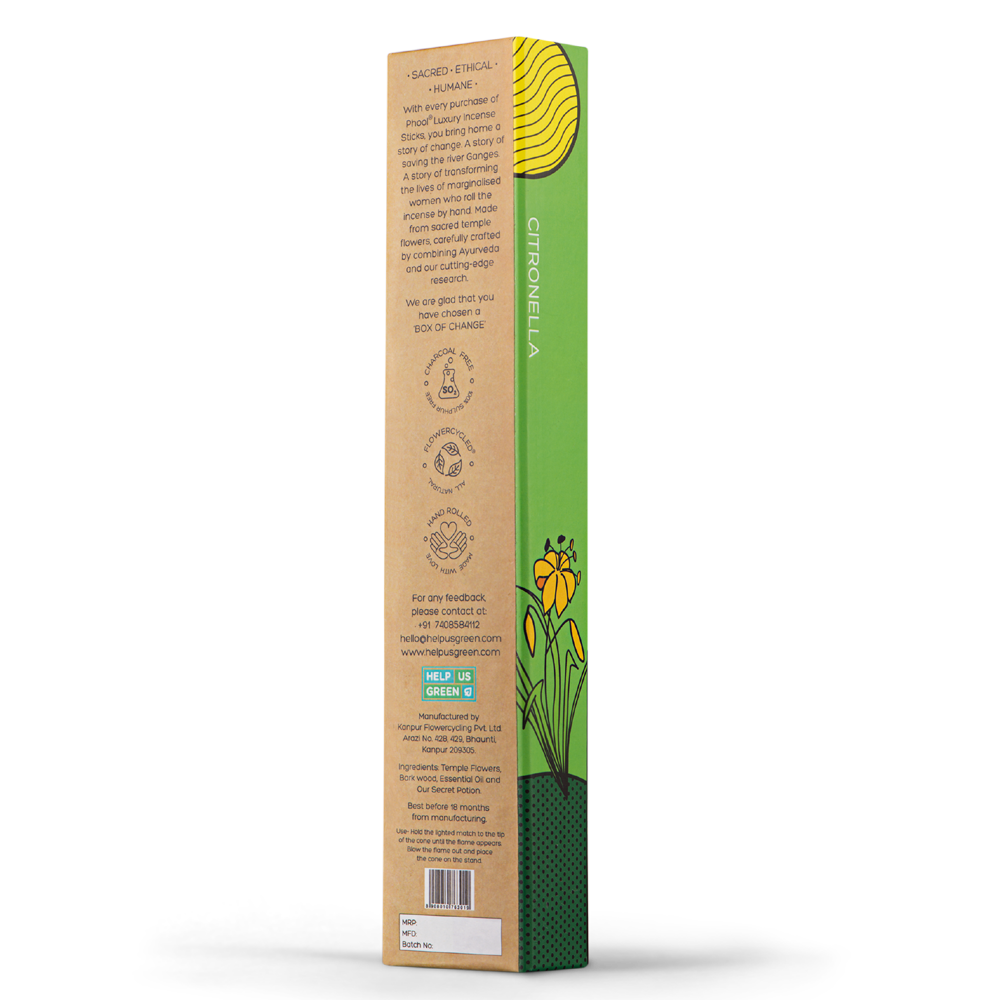 Phool Organic Incense Sticks- Citronella (40 pieces)