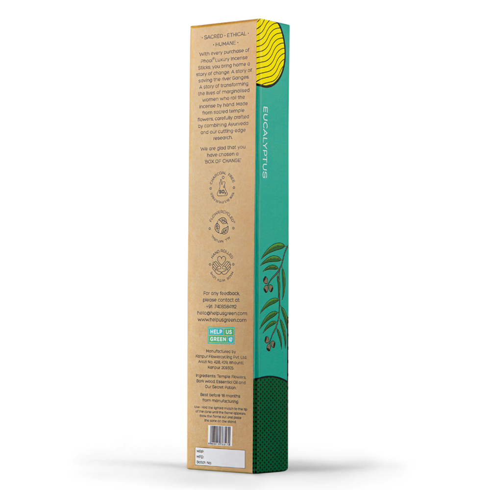 Phool Organic Incense Sticks- Eucalyptus (40 pieces)
