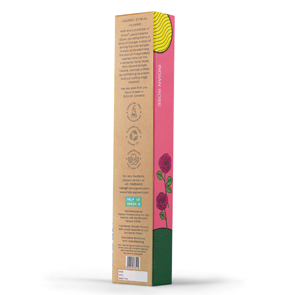 Phool Organic Incense Sticks- Indian Rose (40 pieces)