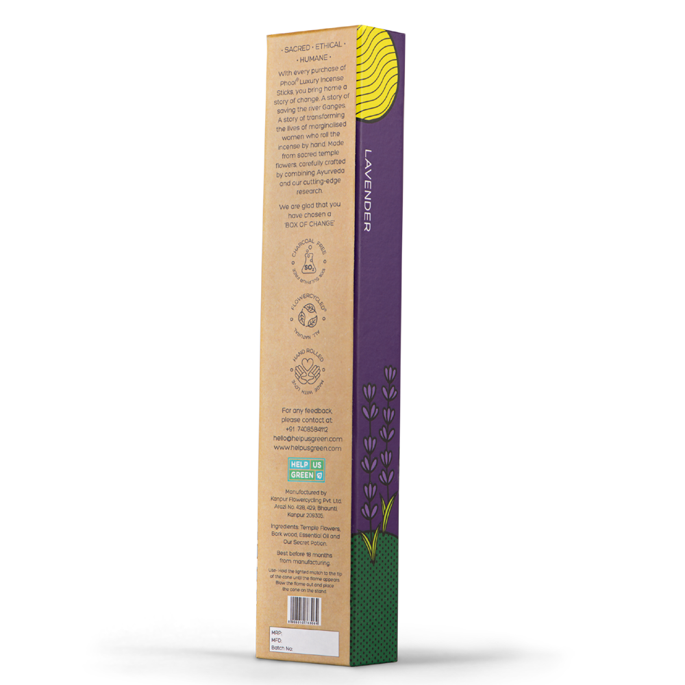 Phool Organic Incense Sticks- Lavender (40 pieces)