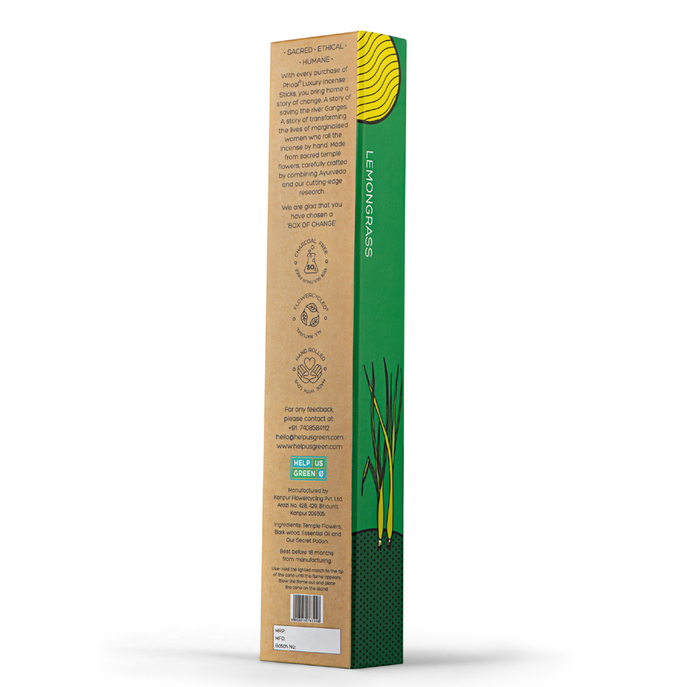 Phool Organic Incense Sticks- Lemongrass (40 pieces)