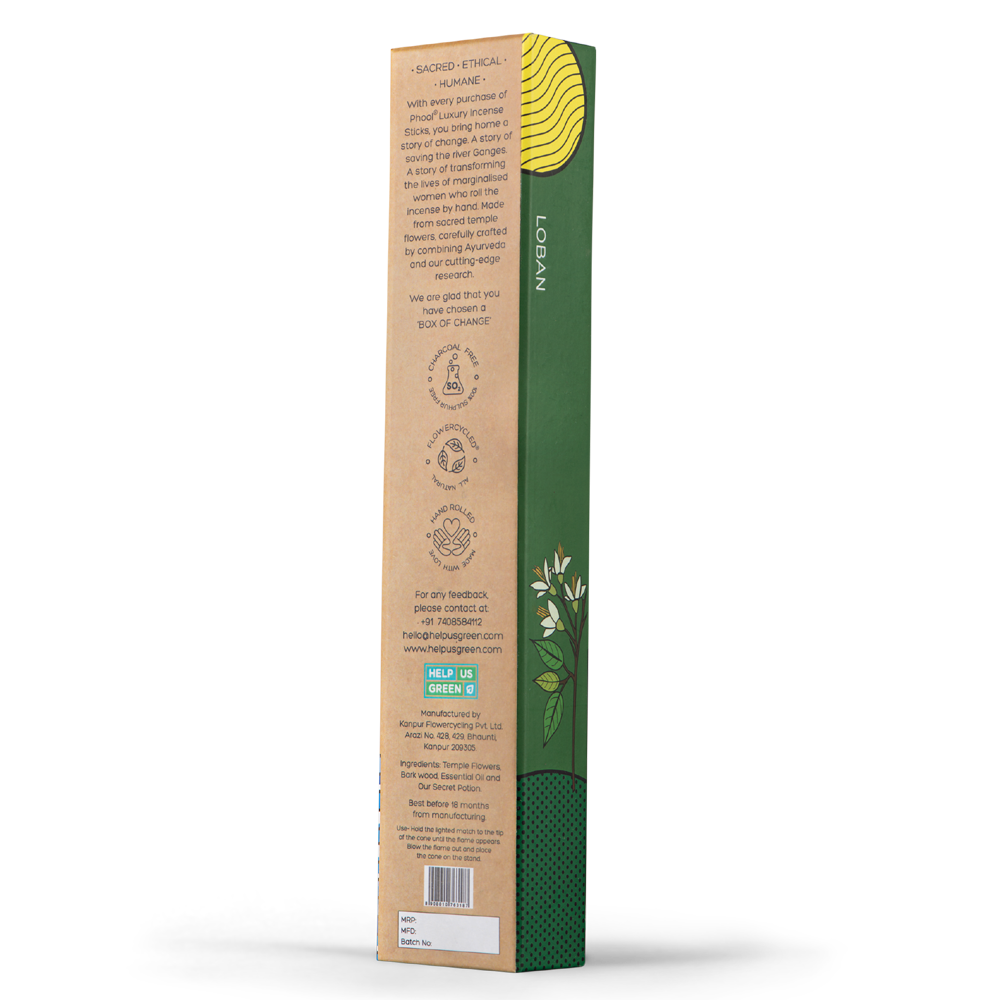 Phool Organic Incense Sticks- Loban (40 pieces)