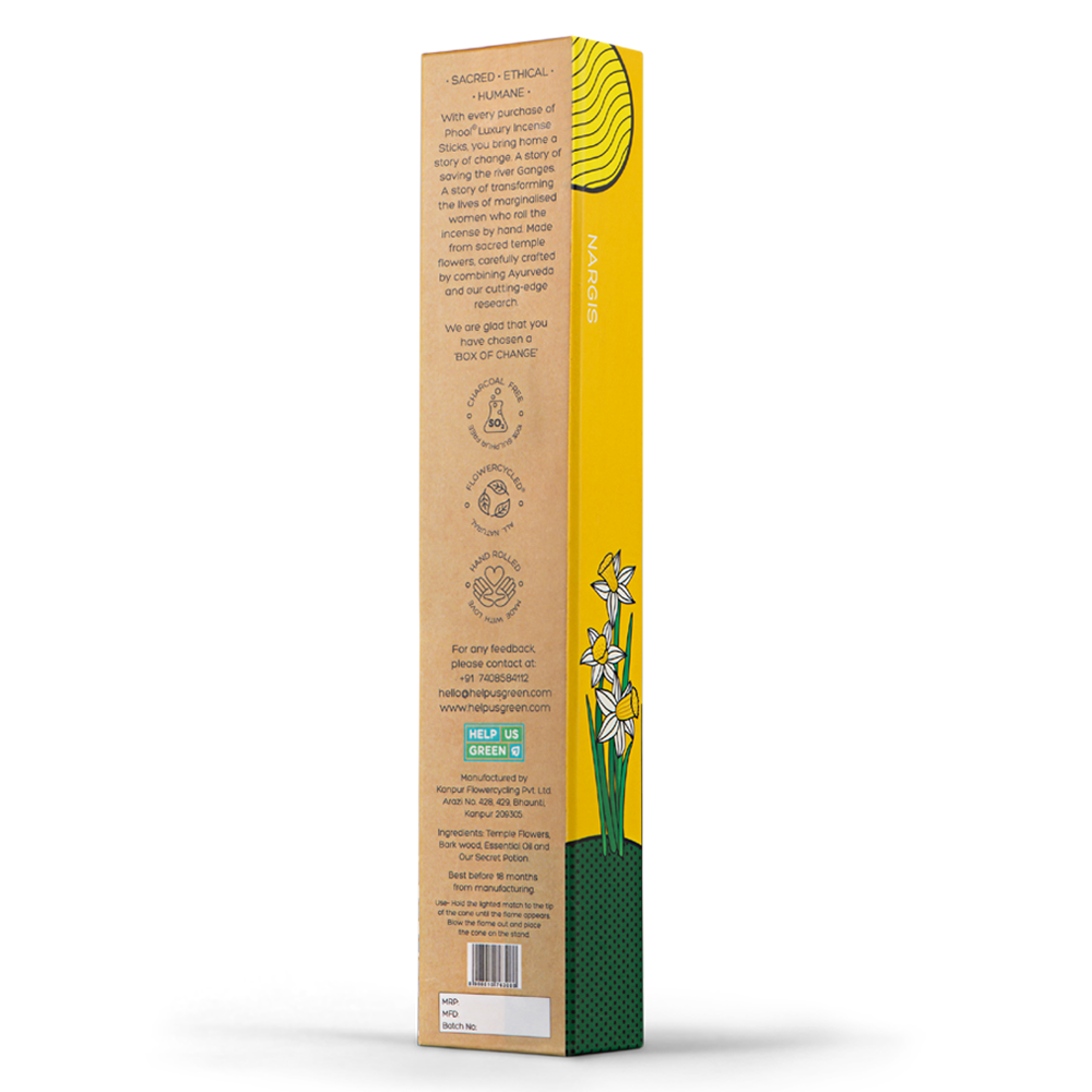 Phool Organic Incense Sticks- Nargis (40 pieces)