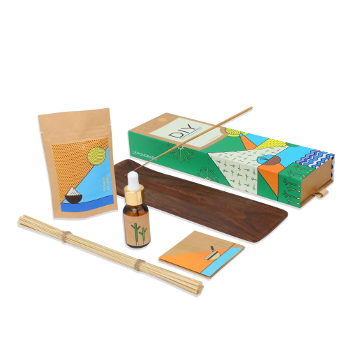 Organic DIY Kit- Phool Lemongrass Incense Making Pack (for 40 sticks)