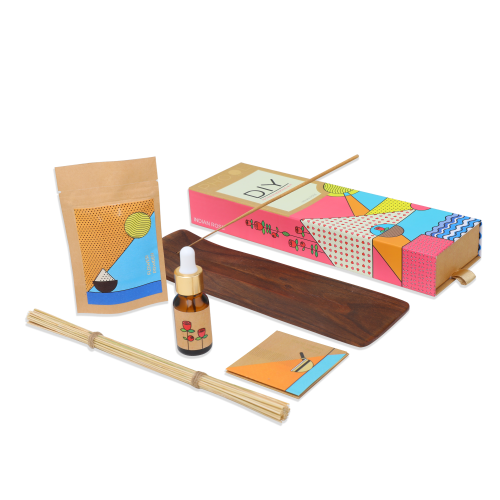 Organic DIY Kit- Phool Indian Rose Incense Making Pack (for 40 sticks)