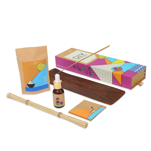 Organic DIY Kit- Phool Patchouli Incense Making Pack (for 40 sticks)