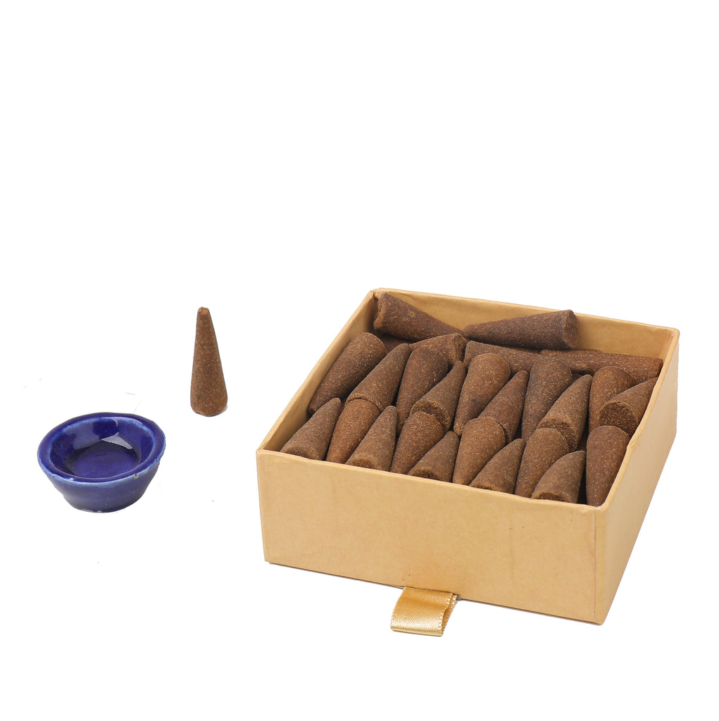 Phool Organic Incense Cones- Indian Rose (40 pieces)