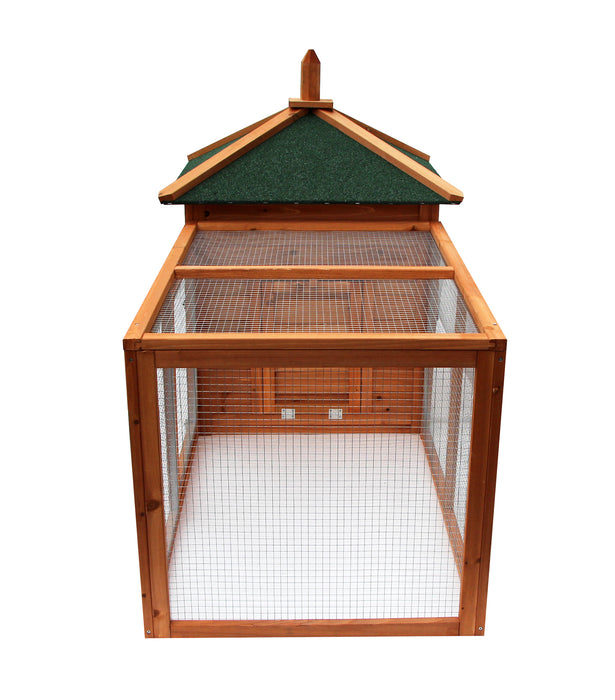 Lovupet Waterproof Wooden Chicken Coop Backyard Nest Box Pet Cage Rabbit Hen Hutch Small Animal House 4350