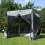 Mcombo 4-Sided Gazebo Portable Pop Up Tent Canopy, Shelter Hub Screen Tent for Outdoor Party (4-6 Persons), 1024-4PC