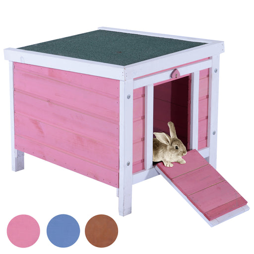 "Lovupet 17"" Wooden Little Dog Rabbit Hutch Small Animal House Pet Cage Chicken Coop 0325"