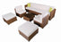 MCombo Patio furniture sectional Sets Wicker Rattan Couch Sofa Chair Luxury Big Size 9 PC