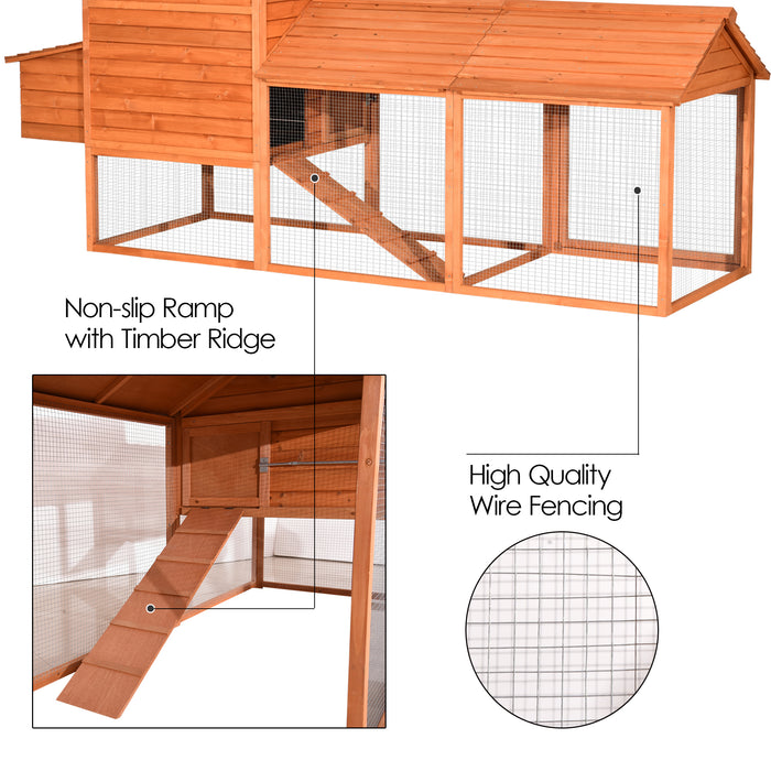 Lovupet 9.3ft Xtra Large Chicken Poultry Rabbit Pet Coop Hen house Hutch Cage 0324