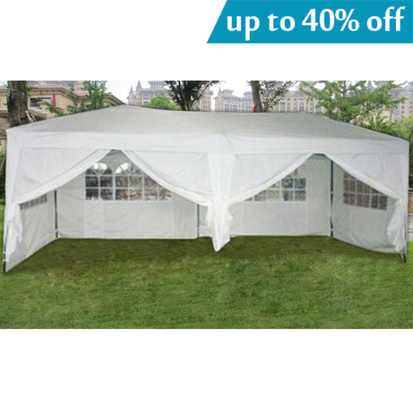MCombo 10x20 ft EZ POP UP 6 WALLS CANOPY PARTY TENT GAZEBO WITH ...