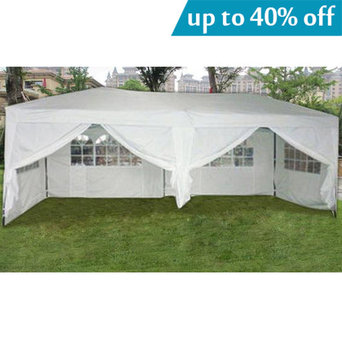 MCombo 10x20 ft EZ POP UP 6 WALLS CANOPY PARTY TENT GAZEBO WITH SIDES 6051