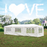 MCombo 10'x30' White Canopy Party Outdoor Gazebo Wedding Tent Removable Walls