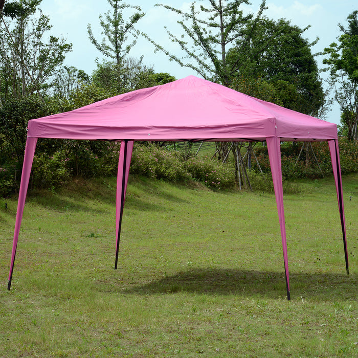 Mcombo Portable 10x10 FT EZ Pop Up Canopy Tent Outdoor Party Gazebo Wedding Tent Sun Shelter Instant Setup with Free Carry Bag Straight Wall Leg