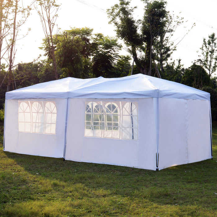 Ez Up Canopy 10x20 >> Mcombo Portable 10x20 Feet Ez Pop Up Canopy Tent Outdoor Party Gazebo Wedding Tent Sun Shelter Instant Setup With Free Carry Bag 6 Pcs Straight Wall