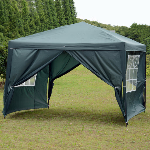 MCombo 10x10 ft EZ POP UP 4 WALLS CANOPY PARTY TENT GAZEBO WITH SIDES 6051