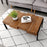 Mcombo Modern Industrial Simple Design Wood Coffee Table for Living Room Cocktail table Rustproof Metal Frame 6090-STABLE-CT